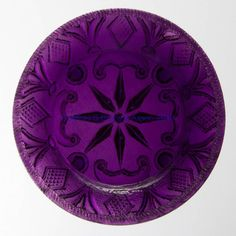 LEE/ROSE NO. 127 CUP PLATE, deep amethyst with