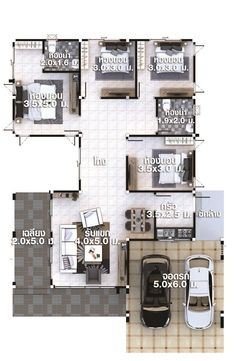 House Plans Idea with 4 bedrooms - House Plans Sam 4 Bedroom House Plans, Home Design Plans, House Prices, Home Goods, Bedrooms, Floor Plans, House Design, How To Plan, Building
