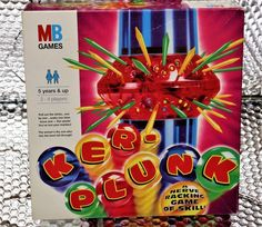 MB GAMES KER-PLUNK  VINTAGE 1996 GAME PARTY FAMILY FUN RETRO MARBLES BOARD GAMES