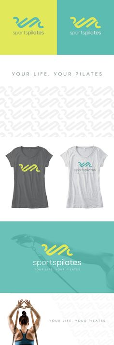 Logo, pattern design, branding, tshirt design, tagline creation for Pilates Studio in Sweden.