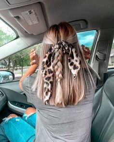 Scarf Hairstyles, Pretty Hairstyles, Hairstyle For Long Hair, Teenage Hairstyles, Simple Hairstyles, School Hairstyles, Prom Hairstyles, Summer Hairstyles, Cabelo Inspo