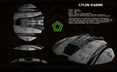 Cylon Raider Mk I ortho by unusualsuspex.deviantart.com on @deviantART