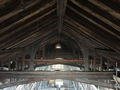 @fotofacade's Sideclick! Rare view right now of the medieval roof structure at @thecct 's St. Nicholas King's Lynn