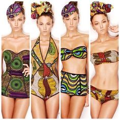 Ankara Inspired swimsuits#Ankara #tribal #swimsuit LOVE
