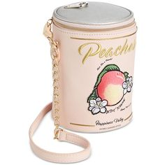 Betsey Johnson Ain't She a Peach Crossbody ($68) ❤ liked on Polyvore featuring bags, handbags, shoulder bags, purses, peach, hand bags, crossbody handbags, pink handbags, betsey johnson purses and pink purse
