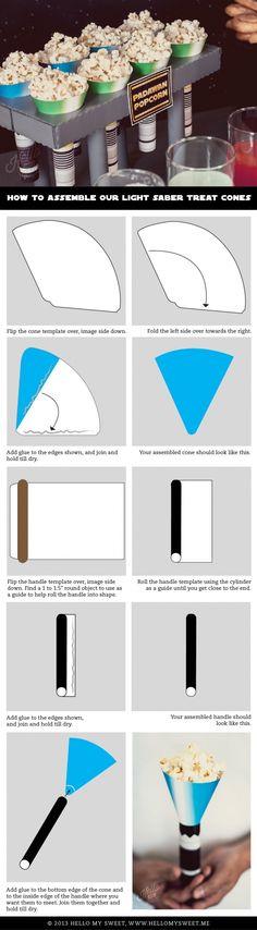 Star Wars Printable Treat Cone - www.spaceshipsandlaserbeams.com