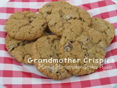 Harriet Homemaker Strikes Again: Tasty Tuesday: Grandmother Crispies