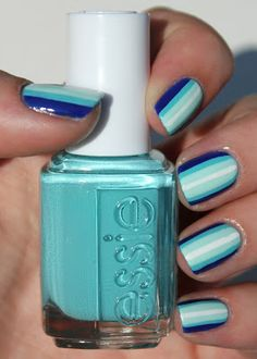 Cute for the Beach! Blue ombre stripes!