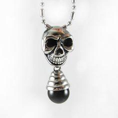 Personalized vintage skull fashion titanium agate male accessories necklace male on AliExpress.com. $33.34