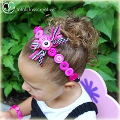 button crafts for adults | Every little diva needs one or two (or more) of these button headbands ...
