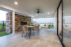An alfresco that fits all your friends and family! Display Homes, Home, Indoor, Open Plan Living, Outdoor Dining, Indoor Outdoor Living, Outdoor Living, Living Area, Study Nook