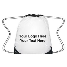 cd9b5519fc7 Customized Polyester Clear Drawstring Backpacks