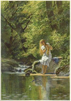 The Wild Swans -- Paul Hey -- Fairytale Illustration