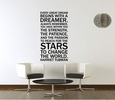 Vinyl Wall Decal Sticker Art  Quote by Harriet