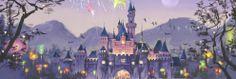 Sleeping Beauty Castle at Hong Kong Disneyland Park Disney Love, Disney Magic, Disney Art, Disney Pixar, Animation Film, Disney Animation, Best Disney Animated Movies, Twitter Header Pictures, Hong Kong Disneyland