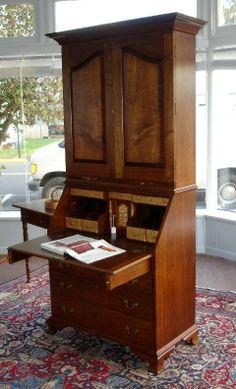 Charles Neil Woodworking - Desks - Desks withSecretaries;  Custom Order Furniture