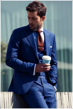 Have an important meeting? Give a good impression by wearing a blue suit.