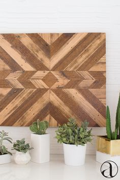 """Art that's not """"art."""" This handcrafted, reclaimed wood wall hanging amps up your décor in the simplest way possible. Shop now."""