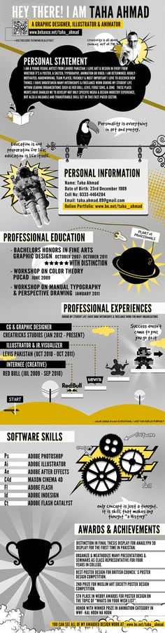 My Resume' 2012 by Taha Ahmad, via Behance