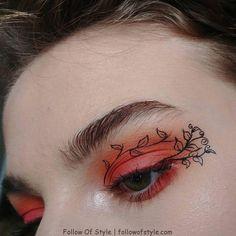 red eye makeup rot orange Augen Make-up Aesthetic Makeup Augen Eye KoreanMakeupLook Makeup orange rot Orange Eye Makeup, Bright Eye Makeup, Eye Makeup Art, Natural Eye Makeup, Cute Makeup, Pretty Makeup, Eyeshadow Makeup, Eyeliner, Beauty Makeup
