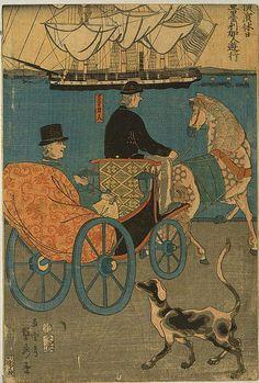 Buyenlarge 'Americans Enjoying Sunday in Yokohama' by Kobayashi Hori Kane Graphic Art Japanese, Japanese Artists, Old Images, Exploration Art, Painting, Japanese Woodblock Printing, Painting Prints, Art, Japanese Vintage Art