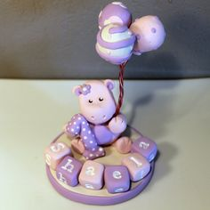 LARGE Custom Hippo Cake Topper for Birthday or Baby Shower on Etsy, $29.95