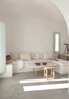 to feel — berlue:   Summerhouse on a mountain in Santorini...