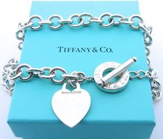 ce7eeb43ba85 Authentic Tiffany and Co Heart Tag Toggle Link Necklace - Sterling Silver  Return to Tiffany Choker - Tiffany   Co - Designer - Love   4707