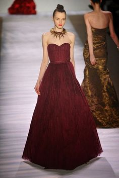 Beautiful burgundy gown with amazing necklace