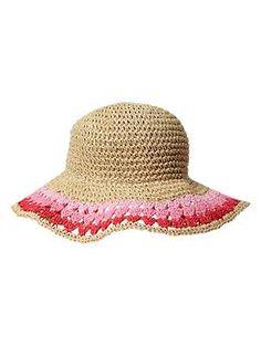 Ombre crochet straw hat | Gap