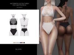 Bill Sims' Halterneck Cut Out Mesh High Waisted Bikini
