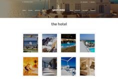 Resort website wordpress theme - interesting enlarged navigation design