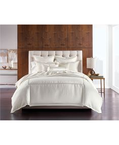 Hotel Collection CLOSEOUT! Ivory Luxe Border Bedding Collection, Created for Macy's & Reviews - Bedding Collections - Bed & Bath - Macy's Ivory Bedding, Textured Bedding, Space Furniture, Mattress Brands, Queen Duvet, My New Room, Bedding Collections, Bed & Bath, Decorative Pillows