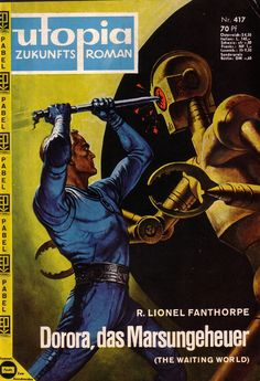 UTOPIA | pulp cover robots science fiction vintage art