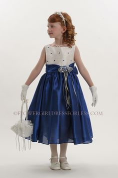 designer navy blue flower girl dresses | Navy Blue and Silver Tutu ...
