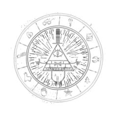 Awesome 'BILL+CIPHER+WHEEL+BLack%2FWhite+%28+GRAVITY+FALLS+%29' design on TeePublic!