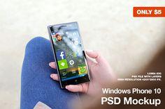 Windows Phone 10 PSD Mockup by Jan Vašek on Creative Market