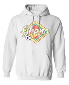 Ghana Football World Cup Unisex Retro Soccer Hoodie available at http://www.world-cup-products-worldwide.com/ghana-football-world-cup-retro-soccer-hoodie/