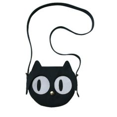 3266555aa7 Original handmade Black Cat Leather Bag, Cat Bag, Cat face, Animal Bag,