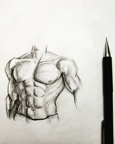Male body #10_min_sketch Dark Art Drawings, Art Drawings Sketches Simple, Pencil Art Drawings, Realistic Drawings, Body Sketches, Body Reference Drawing, Guy Drawing, Painting & Drawing, Art Reference