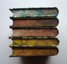 Beautiful graphic book edges.
