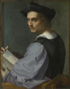Andrea del Sarto - Portrait of a young man (1517)