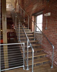 Industial Pipe Railing Loft                                                                                                                                                                                 More