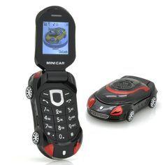 Small Sports Mini Car shape kid's Flip Mobile Phone