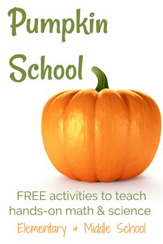 Skip the regular math and science lessons for a few days and do pumpkin school instead. You're students will have so much fun and learn a ton! 6th Grade Science, Elementary Science, Middle School Science, Science Classroom, Science Education, Teaching Science, Science Activities, Physical Science, Science Experiments