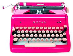 IF I could find this color typewriter, I would SO go back to old school typing!