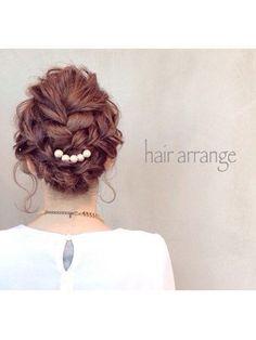 2015年 秋冬 結婚式 ヘアアレンジ 二次会 Work Hairstyles, Bride Hairstyles, Headband Hairstyles, Pretty Hairstyles, Hair Colour Design, Hair Arrange, Hair Setting, Hair Art, Hair Designs