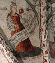 sybille  voûte de la cathédrale Notre-Dame-de-la-Sède-Saint-Lizier Ariège