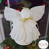 Over 29 DIY Homemade Salt Dough Ornaments for the Kids to Make this Christmas! Christmas Angel Crafts, Angel Christmas Tree Topper, How To Make Christmas Tree, Christmas Decorations, Paper Angel, Salt Dough Ornaments, Crafts For Kids To Make, Homemade, Simple