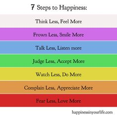 7 steps to a great day :-)